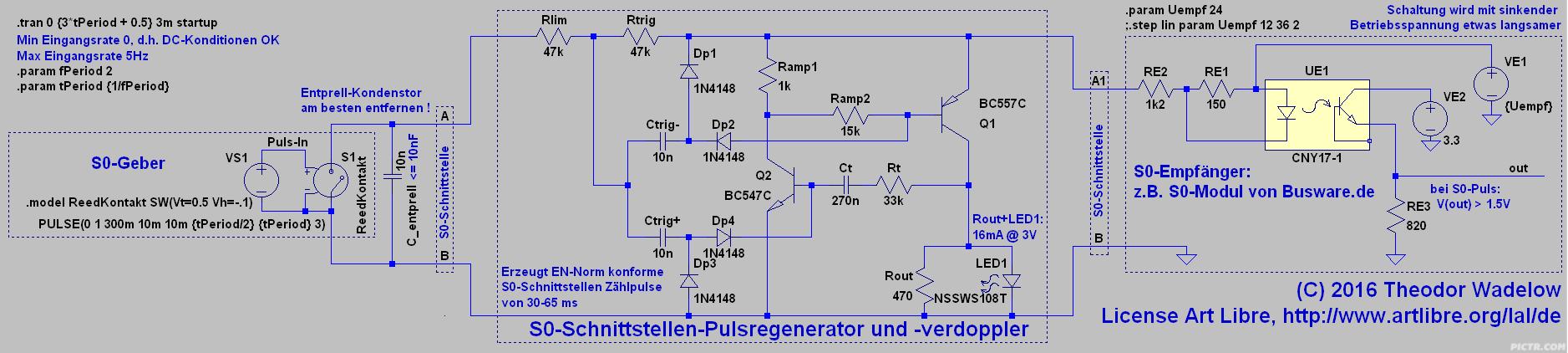 Schaltplan S0-Pulsregenerator V3