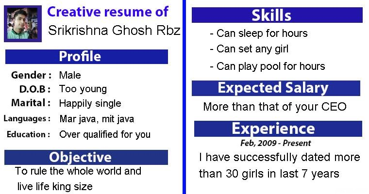 how should my resume look like