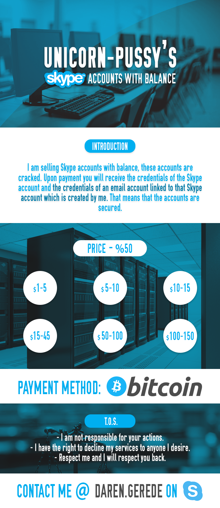 Skype login account - These Accounts Are Cracked And Secured With A Private Method A Custom Email Account Is Created And Linked To The Skype Account So The Account Is Secure