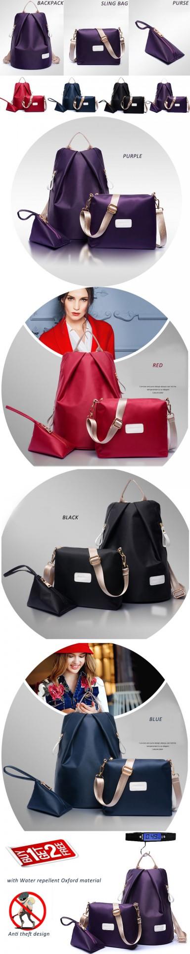 Anti Theft Travel Cosmetic Korean Backpack Handbag Sling