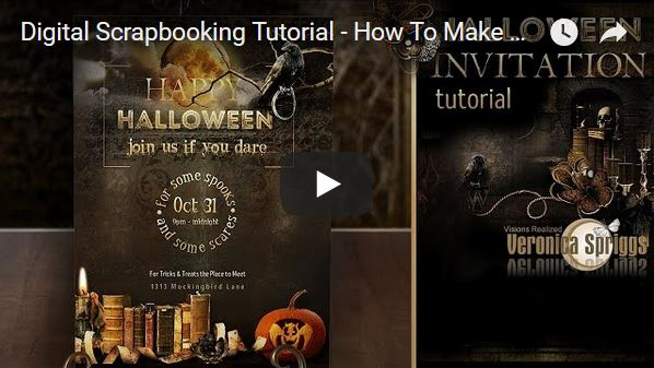 Digital Scrapbooking Tutorial How To Create A Halloween Invitation Card