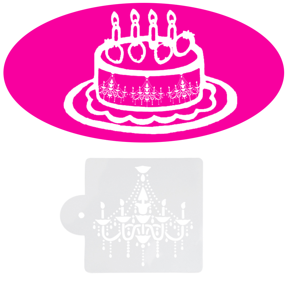 Cake Stencil Decor Beautiful Chandelier