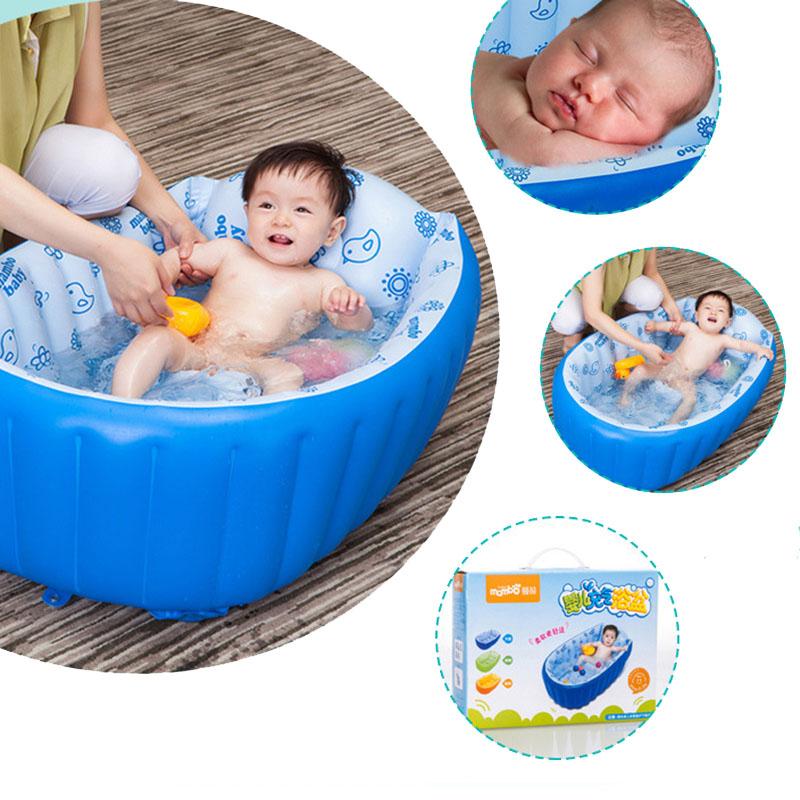 Inflatable Babies Bath Bathtub Shower Kids Thickening Folding ...