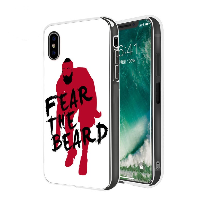 61c197cbd239 Fear The Beard Texas James Harden Case Cover For Iphone 5 6 7 8 Plus X 10  Apple