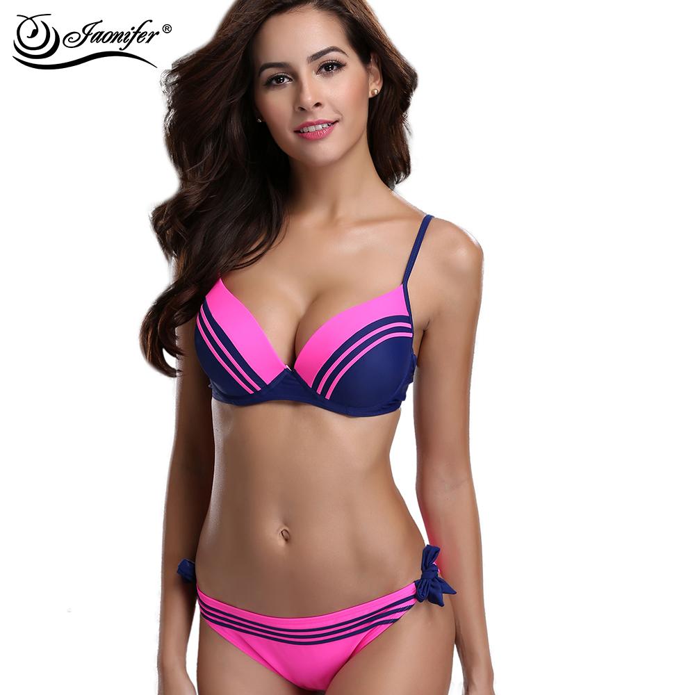 0a0c977d4adea Bikini Big Women Sexy Swimwear Cup Set Size Push Up Plus Summer 2018 ...