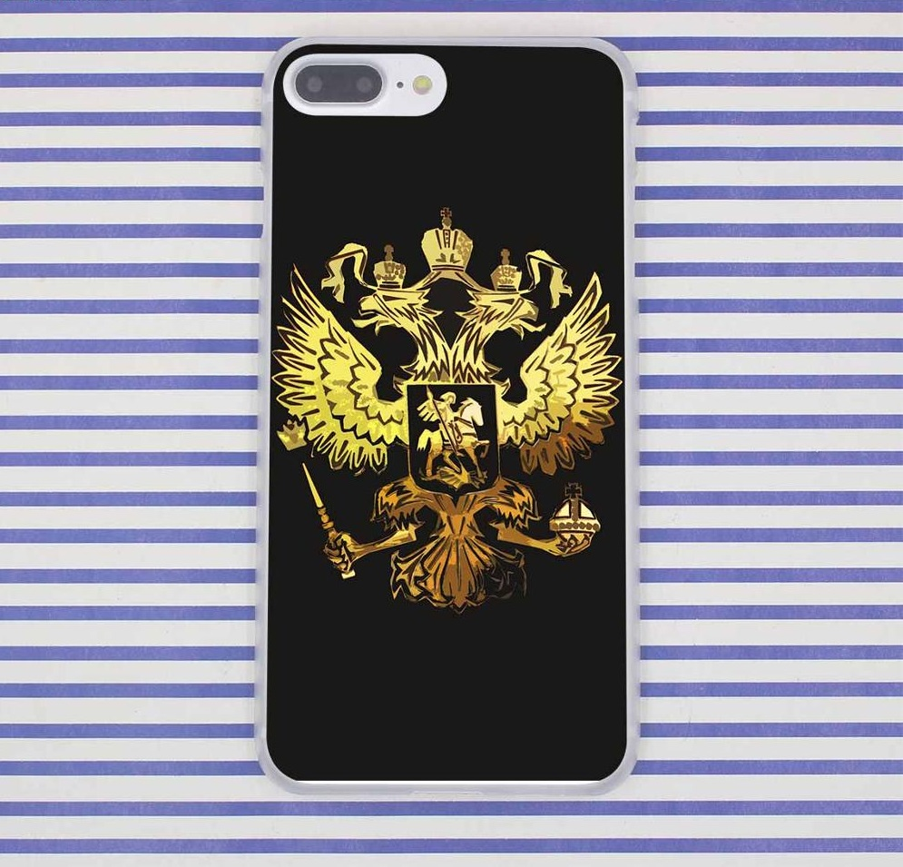 Russia Symbol Case Cover For Iphone 5 6 7 8 Plus X 10 Apple Russian