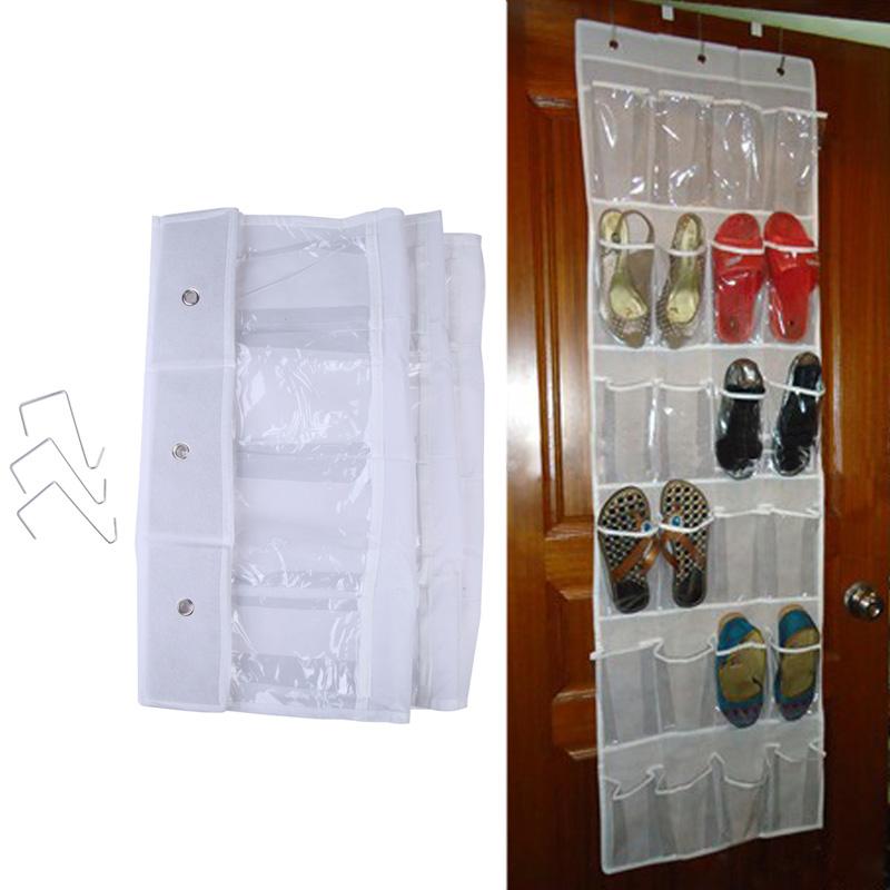 Door Holder 24 Hanging Rack Pocket Shoe Storage Organizer Closet Bag