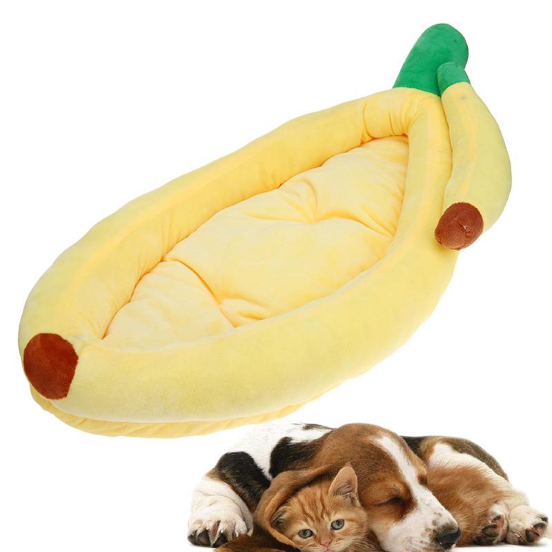 Dog Bed Banana Sofa Pet Winter Warm Shape Cat