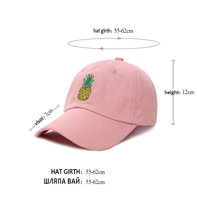 58600525664 Pineapple Hat Embroidered Baseball Cap Polo Style Unconstructed ...