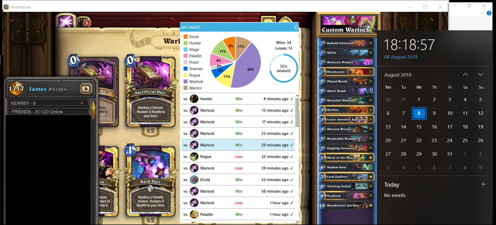 day 2 legend control warlock control warlock deck by james1 aug 8 2018
