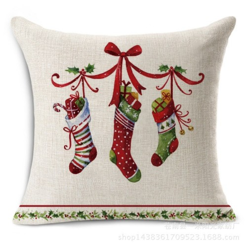Merry Christmas decorations for home Decorative throw pillow cover case green trees gift cushion cov