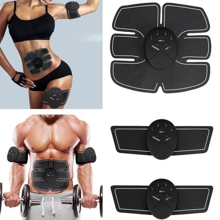 Electrostimulateur,Ceinture Abdominale,Appareil Abdominal Muscle ABS Forme  d Exercice Fitness, Appareil Fitness pour Hommes Femmes f36d1df0bc2