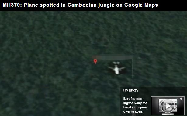 MH370: Plane spotted in Cambodian jungle on Google
