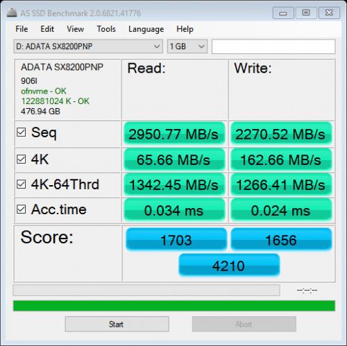 Adata XPG SX8200 Pro 512GB NVME SSD