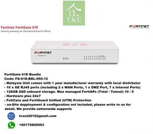 WTS: Brand New Fortigate 61E Firewall