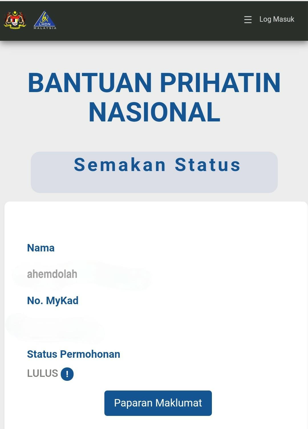 Apply Bantuan Prihatin Nasional Bpn 2 0 Tip Q A