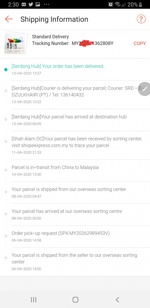 Shipping From China For Shopee Purchase How Long