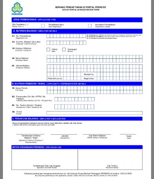 Borang 34 Perkeso Checklist