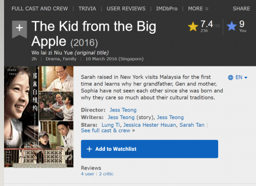 2020 10 25 19 34 02 The Kid from the Big Apple (2016) IMDb and 3 more pages Work Microsoft​ Ed